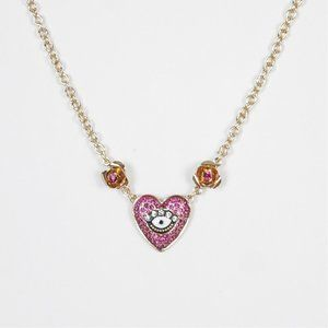 Betsey Johnson Pink Heart Necklace